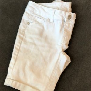 White Justice jean shorts with stretch